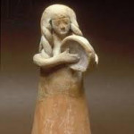 Ancient Israelite Woman playing a tambourine -- ca. 8-9th BCE