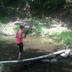 Sarah at the river